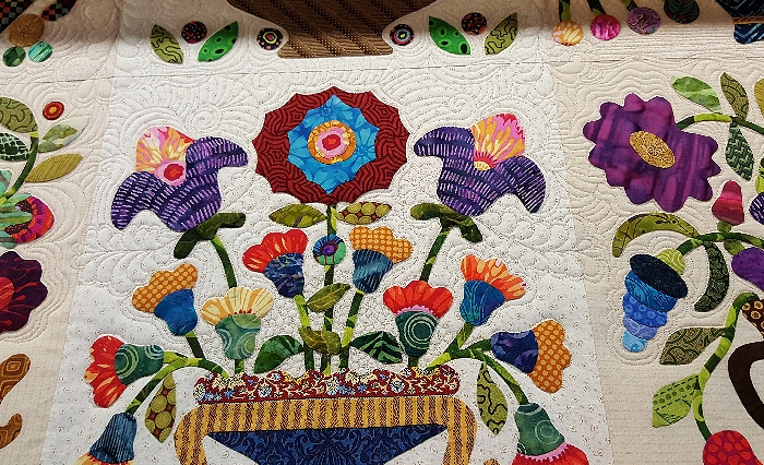Tropical hanalei bay needle turn hand applique quilted batik